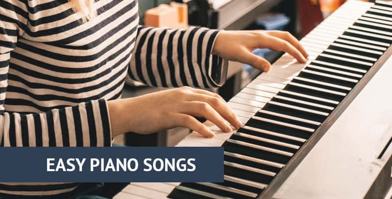 Easy piano songs playing
